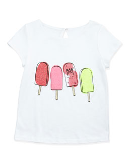Milly Minis Popsicle Short-Sleeve Tee, Sizes 8-10