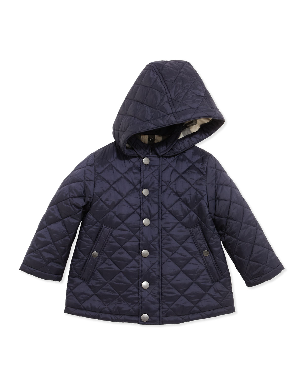 Burberry Jerry Lightweight Quilted Jacket With Hood Navy 6 18