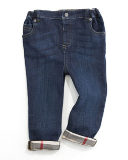 Burberry Five-Pocket Denim Trousers, 6-18 Months