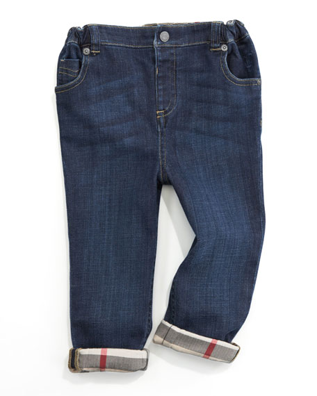 BurberryFive-Pocket Denim Trousers, 6 Months-2Y