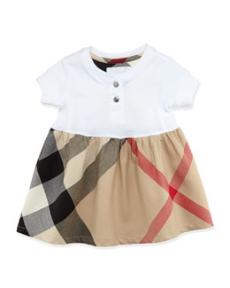 Burberry Infant Girls' Henley Dress, White, 6-18 Months