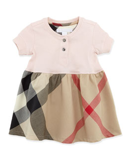 Burberry Infant Girls' Henley Dress, Pink, 6-18 Months