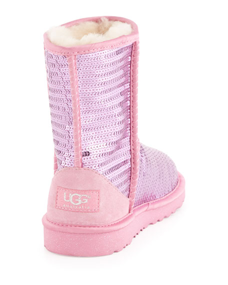 Kids Sparkles Classic Short Boot, Pink, 13T-4Y