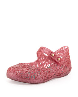 Melissa Shoes Mini Melissa + Campana Zig Zag IX Jelly Mary Jane, Pink