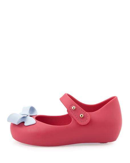Mini Ultragirl Bow Jelly Flats, Pink
