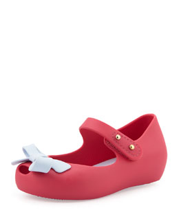 Melissa Shoes Mini Ultragirl Bow Jelly Flats, Pink