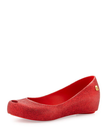 Ultragirl Glitter II Slip-On Shoe, Red, Youth