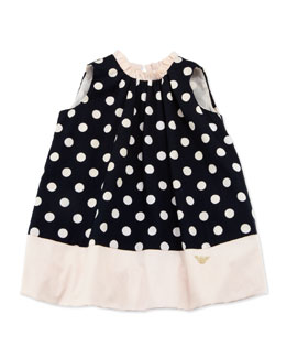 Armani Junior Sleeveless Polka-Dot Bubble Dress, 3-24 Months