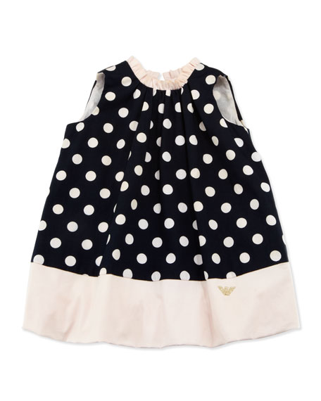 Sleeveless Polka-Dot Bubble Dress, 3-24 Months