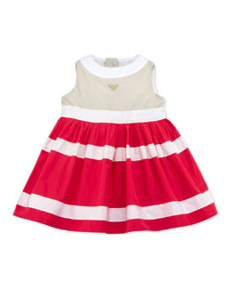 Armani Junior Colorblock Nylon Dress, Multi, 3-24 Months
