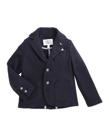Soft Stretch-Jersey Blazer, Navy, 2Y-8Y
