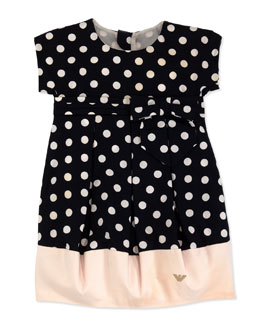 Armani Junior Polka-Dot Bubble Dress, Sizes 2-8