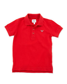 Armani Junior Boys' Basic Polo, Red, 2Y-8Y