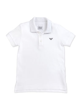 Armani Junior Boys' Basic Polo, White, 2Y-8Y