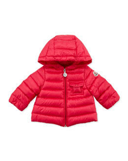 Moncler Milou Long Season Packable Jacket, Fuchsia