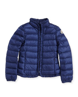 Moncler Mayotte Long Season Packable Jacket, Royal, Sizes 8-10