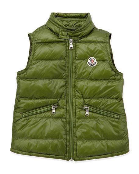 Gui Lightweight Puffer Vest, Dark Green, Sizes 2-6