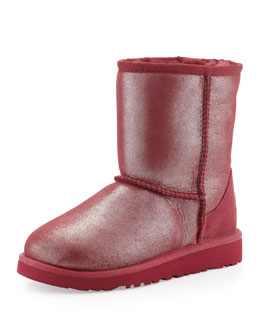 UGG Australia Classic Glitter Boot, Youth, Red Plum