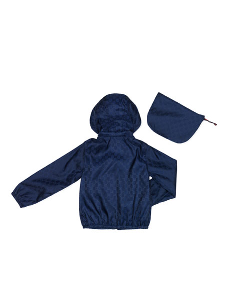GG Waterproof Nylon Jacket, Oltremare