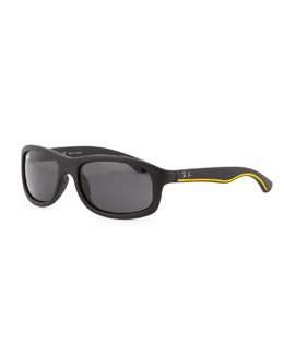 Ray-Ban Kid's Matte Sunglasses, Black