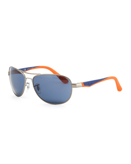 Kid's Aviator Sunglasses, Blue