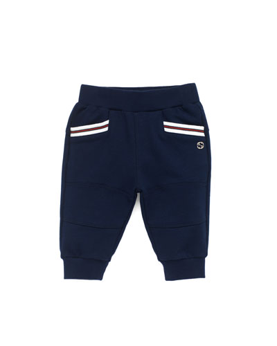 Gucci Jersey Jogging Pants, Blue