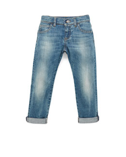 Gucci Faded Denim Blue Jeans