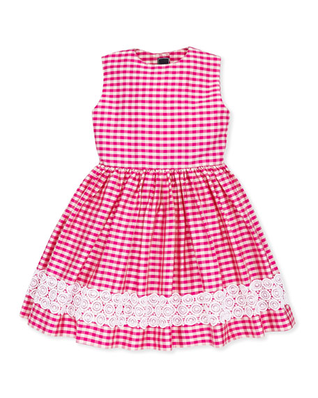 Girls' Gingham Party Dress, 2Y-10Y