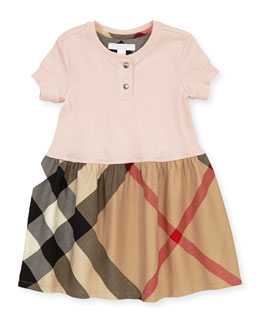 Burberry Toddler Girls' Henley Dress, Pink, 2Y-3Y