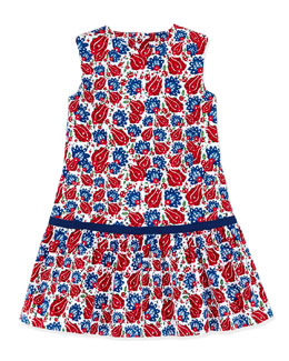 Oscar de la Renta Ornamental Sao Paolo Dress, Navy