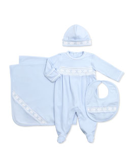 Kissy Kissy CLB Spring Shades Footie, Light Blue,