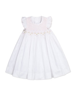 Kissy Kissy Brianna Smocked Dress, White