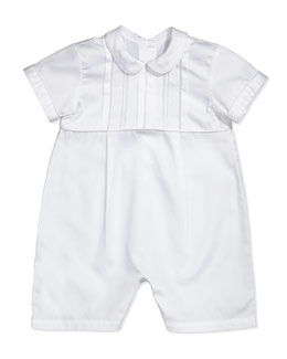 Kissy Kissy Bryce Christening/Baptism Short Playsuit, White