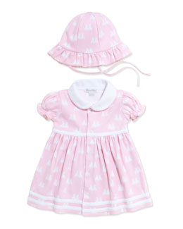 Kissy Kissy Twin Bunnies Dress with Bloomers, Pink