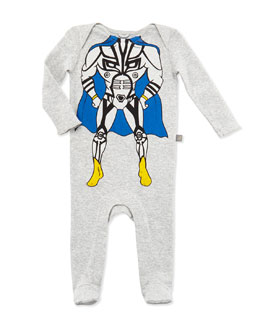 Stella McCartney Rufus Superhero Sleep Suit, Gray, 3-24 Months