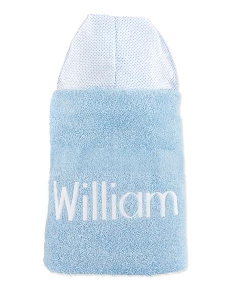 Swiss-Dot Hooded Towel, Blue