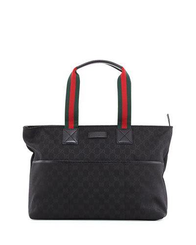 Gucci GG Supreme Canvas Diaper Bag, Black