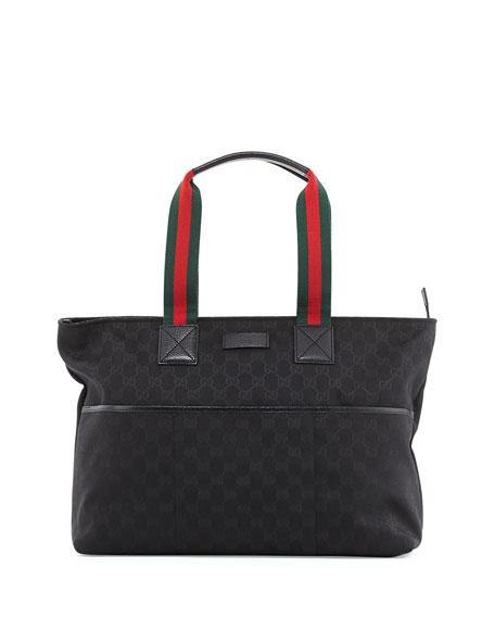 Gucci GG Supreme Canvas Diaper Bag, Black