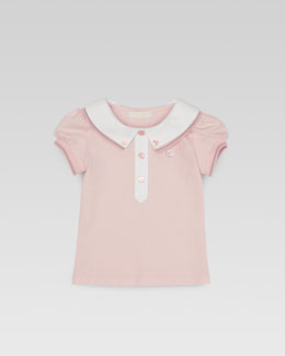 Gucci Baby Girls' Web-Detail Pique Polo, 0m-24m