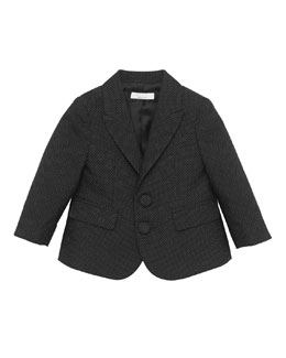 Gucci Pindot and GG Jacquard Jacket, Black, 0-24 Months