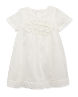 Chloe Cotton-Organdy Dress, White, Sizes 6-10