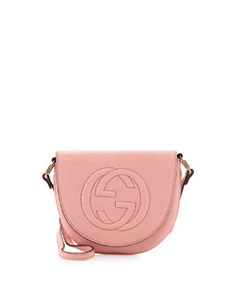 Gucci Girls' Interlocking G Messenger Bag, Light Pink