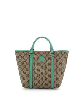 Gucci GG Supreme Canvas Kid's Tote Bag, Green
