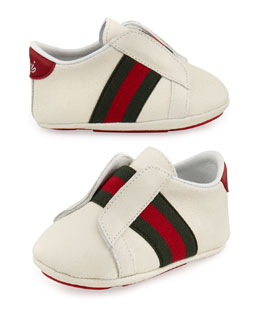 Gucci Baby Laceless Brooklyn Sneaker, White