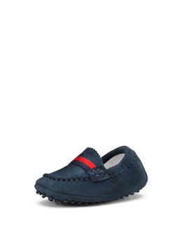 Gucci Baby Dandy Driving Shoes, Navy