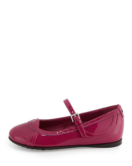 Patent Leather Ballet Flat, Bougainvillea