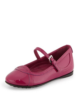 Gucci Patent Leather Ballet Flat, Bougainvillea