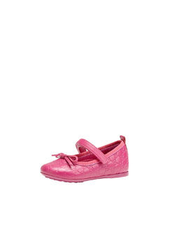 Gucci Ali Leather Ballet Flat, Pink, Girls' Sizes 4-10