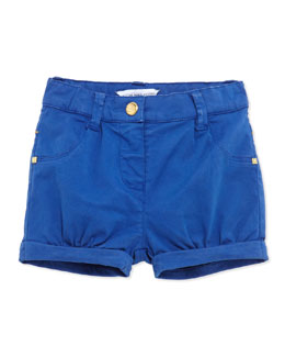 Little Marc Jacobs Woven Bubble Shorts, Blue, 3-18 Months