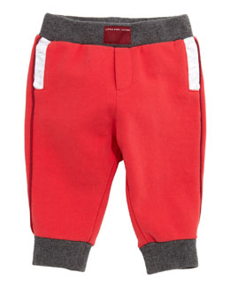 Little Marc Jacobs Cotton-Fleece Jogging Sweatpants, Red, 3-18 Months